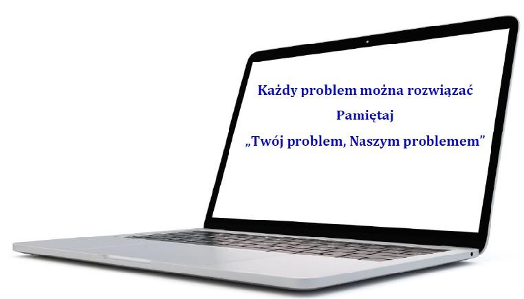 laptop napis - Poznaj Nas