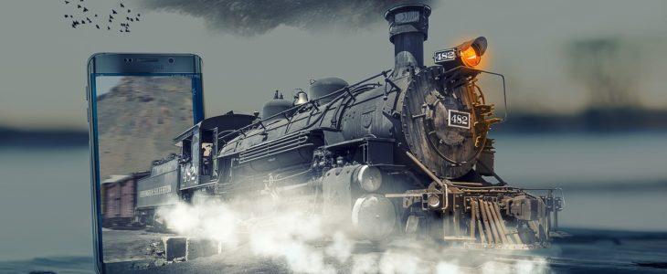Telefon i pociąg