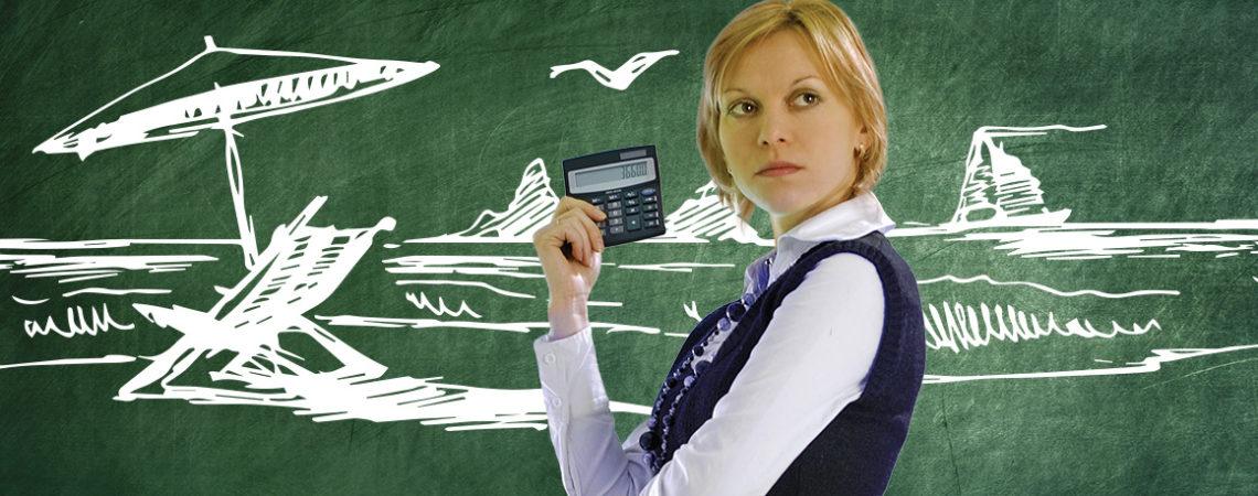 plaża-kalkulator-dziewczyna